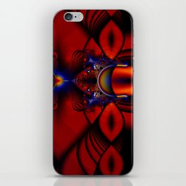Ruby Abstract Stained Glass Window iPhone Skin