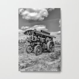 """Showmans Engine """"Lord Nelson""""  Black and White Metal Print"""