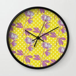 floral fuel Wall Clock