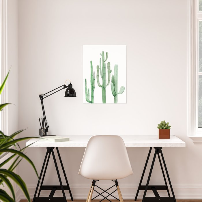 Three Amigos White + Green by Nature Magick Poster