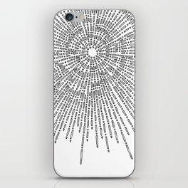 Bridging on White Background iPhone Skin