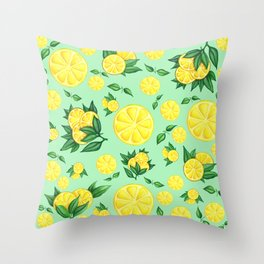 LEMON #1 Throw Pillow