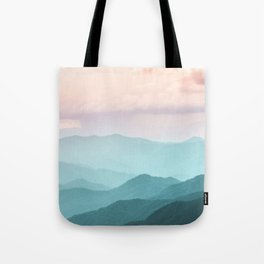 Smoky Mountain National Park Sunset Layers II - Nature Photography Tote Bag