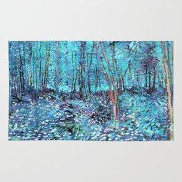 Van Gogh Trees & Underwood Turquoise & Amethyst Rug