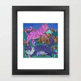 Mountain Cats Framed Art Print
