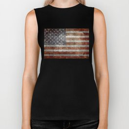 Old Glory, The Star Spangled Banner Biker Tank