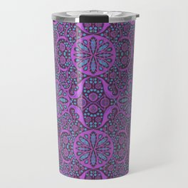 Poppy Pods Fuchsia and Turquoise Travel Mug