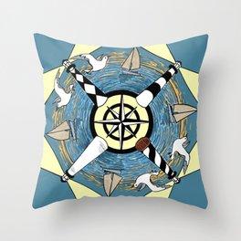 OBX Lighthouse Mandala Throw Pillow