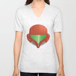 Samus Helmet - Super Metroid Unisex V-Neck
