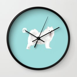 samoyed funny farting dog breed pure breed pet gifts Wall Clock