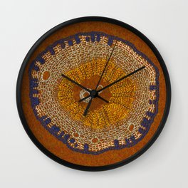 Growing - ginkgo - embroidery based on plant cell under the microscope Wall Clock