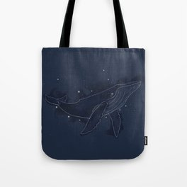 Spacial Whale Tote Bag