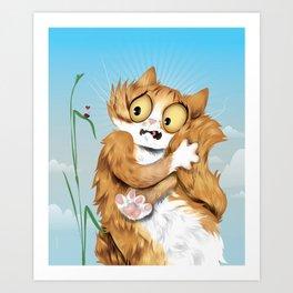 Fradie Cat Art Print