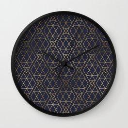 Modern Art Deco Geometric 2 Wall Clock