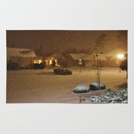 Coastal Winter Snow Storm Rug