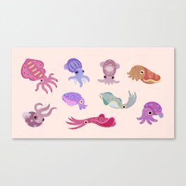 Squids Canvas Print