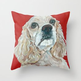 Lola the Cocker Spaniel Throw Pillow