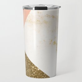 Gold marble collage Travel Mug