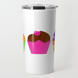 Handdrawn cute Muffins Travel Mug