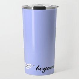 Love Beyond Words (Light Blue) Travel Mug