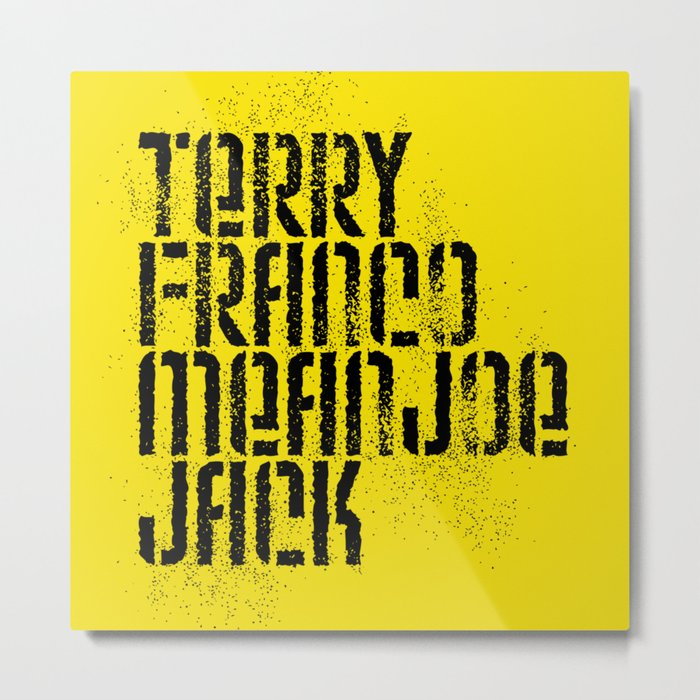 Terry Franco Mean Joe Jack / Gold Metal Print