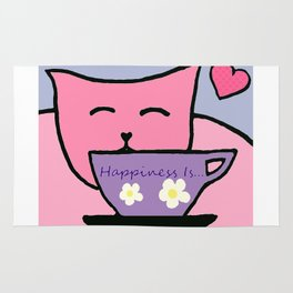 Happiness Is Cats and Tea Rug