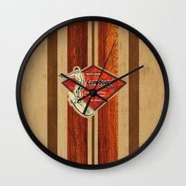 Waimea Hawaiian Surfboard Design Wall Clock