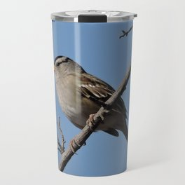 A White-Crowned Sparrow Eyes the Botanic Garden Travel Mug