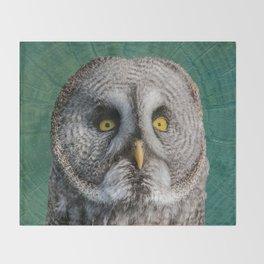 GREY OWL Throw Blanket