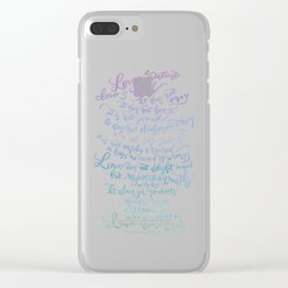 Love is patient, Love is Kind-1 Corinthians 13:4-8 Clear iPhone Case