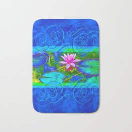 Lotus Blossom Blues Bath Mat