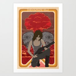 Modern Mucha - Sarah Conner Art Print