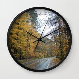 Road to Fall Wall Clock