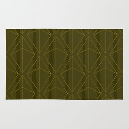 GREEN GEOMETRIC DIAMONDS Rug
