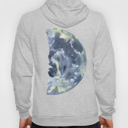 First Quarter Moon Watercolor Hoody