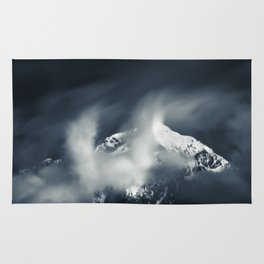 Darkness and chaos over the mountain Rug