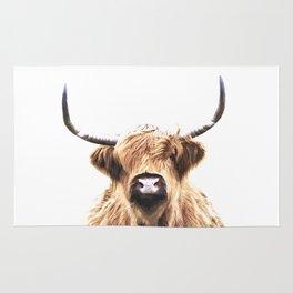 Highland Cow Portrait Rug