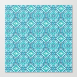 Ocean Melt Kaleido Pattern Canvas Print