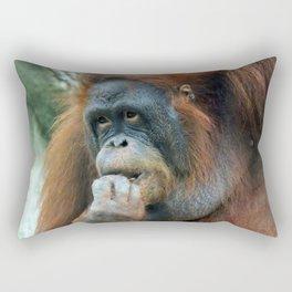 Orangutan Mom Rectangular Pillow