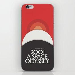 2001 A Space Odyssey - Stanley Kubrick minimalist movie poster, Red Version, fantasy film iPhone Skin
