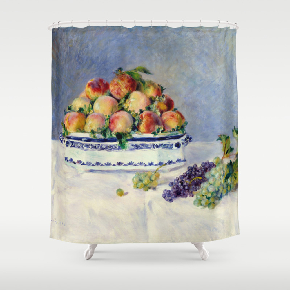 "Auguste Renoir """"still Life With Peaches And Grapes… Shower Curtain by Alexandra_arts"" CTN9097175"