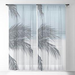 Palm and Ocean Sheer Curtain