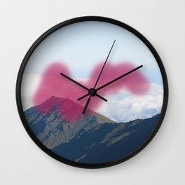 Mountain Blue Wall Clock