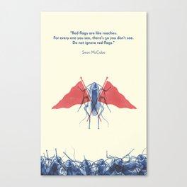 Red Flag Roaches Canvas Print