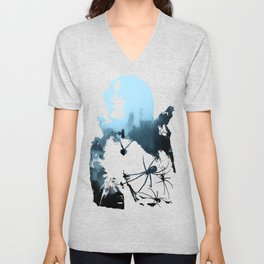 Strange Night: Ghost Light Unisex V-Neck