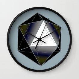 Icosahedron Wall Clock