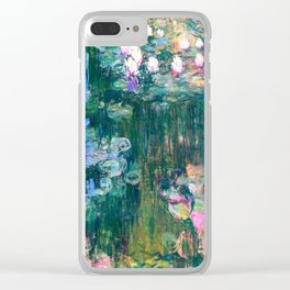 water lilies : Monet Clear iPhone Case