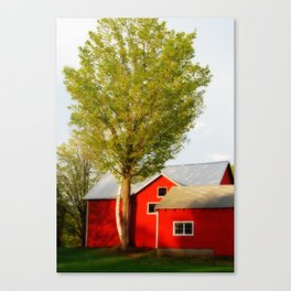 Red Barn in Summer Canvas Print