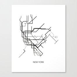 New York Subway Map Print New York Metro Map Poster,Subway Map Print,Metro Map Poster Canvas Print