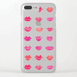 Kiss Collection – Pink Palette Clear iPhone Case